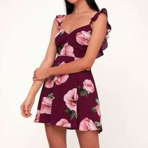 Lulu's Floral Of The Above Backless Skater Dress